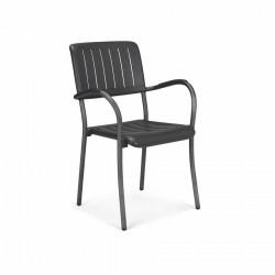 Krzesło z podłokietnikami Musa antracyt - Nardi S.R.L.