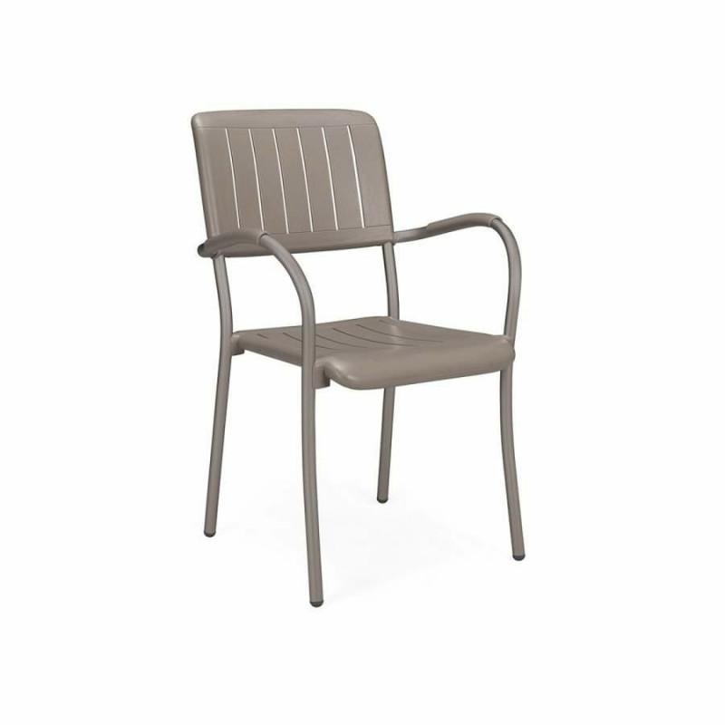 Krzesło z podłokietnikami Musa brązowe - Nardi S.R.L.