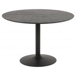 Stół Ibiza okrągły 110 czarny - ACTONA