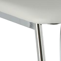 Zestaw 2 krzeseł Venus jasny szary - Simplet