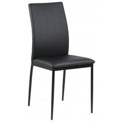 Krzesło Demina black PU - ACTONA