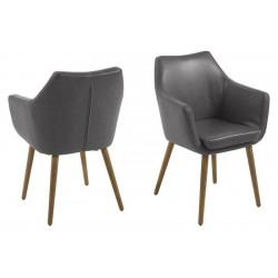 ACTONA krzesło NORA  - ekoskóra szary