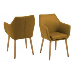 ACTONA krzesło NORA  - tkanina curry