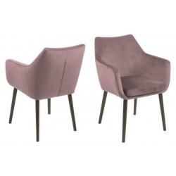 ACTONA krzesło NORA  - tkanina brudny róż