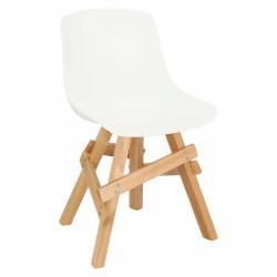 Krzesło Rail białe/ dębowe - Intesi