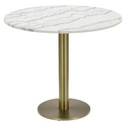 Stół okrągły Corby II 110cm marmur/złoty - Cheers