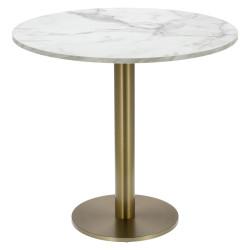 Stół okrągły Corby II 80cm HPL marmur/ marmur - Cheers