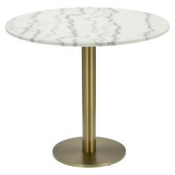 Stół okrągły Corby II 85cm marmur/złoty - Cheers