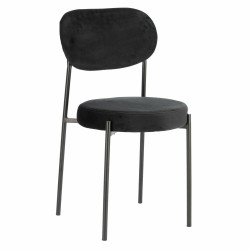 Krzesło Camile Velvet czarne - Intesi