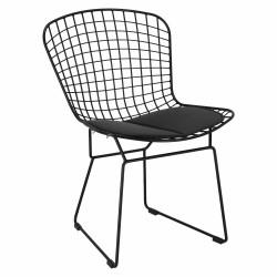Krzesło Harry czarne / czarna poduszka - D2.DESIGN