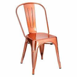 Krzesło Paris miedziane insp. Tolix - D2.DESIGN