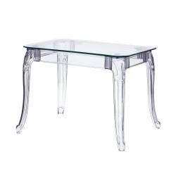 Stół Ghost 80x120cm transparentny - D2.DESIGN
