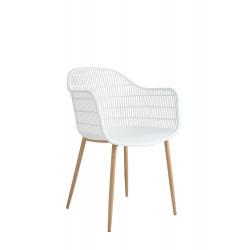 Krzesło Becker białe/naturalne - Simplet