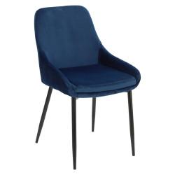 Krzesło Floyd Velvet niebieskie - Intesi