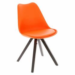 Krzesło Norden Star Square black PP poma rańczowe - Intesi