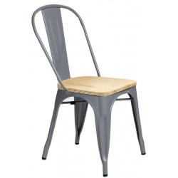 Krzesło Paris Wood szary jesion - D2.DESIGN