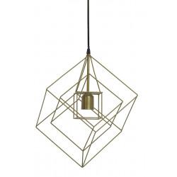 Lampa wisząca Kubinka 25x25x27 antyczny brąz - Light&Living