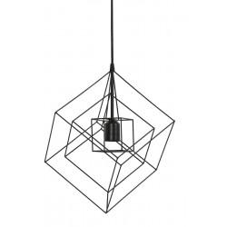Lampa wisząca Kubinka 25x25x27 czarna - Light&Living