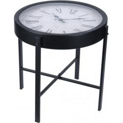 Stolik z zegarem Montre czarny - Intesi