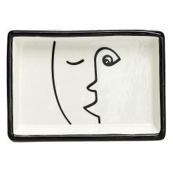 Ceramiczna tacka Arty biało czarna - Intesi