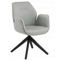 Krzesło obrotowe Aura light grey /black auto return - ACTONA