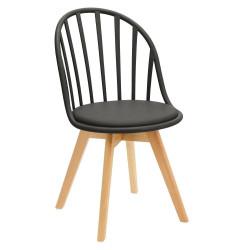 Krzesło Sirena czarne - Intesi