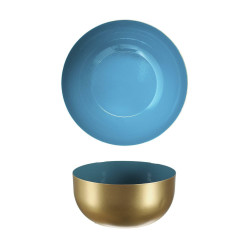 Metalowa miska Nouvel złoto niebieska - Intesi