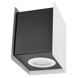 Kinkiet STEREO 1 biały/czarny - Sollux