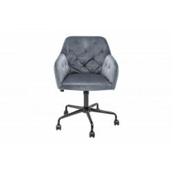INVICTA fotel biurowy DUTCH COMFORT  szary - aksamit, metal