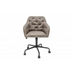 INVICTA fotel biurowy DUTCH COMFORT  ciemnoszary - aksamit, metal