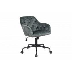 INVICTA fotel biurowy DUTCH COMFORT  zielony - aksamit, metal