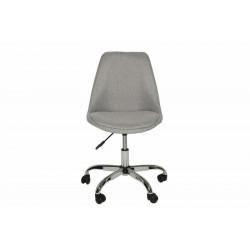INVICTA fotel biurowy SCANDINAVIA  jasnoszary - chrom