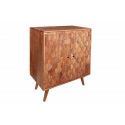 INVICTA szafka barowa MYSTIC LIVING  - 76 cm akacja, drewno naturalne, metal