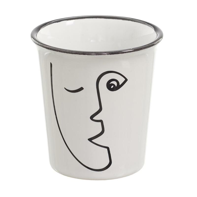 Kubek do espresso Arty 70ml twarz - Intesi