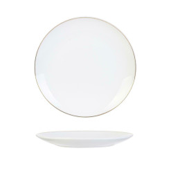 Talerz Pearl Gold 20cm biały - Intesi