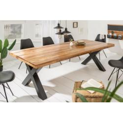 INVICTA stół IRON CRAFT 200 Mango - lite drewno mango, podstawa czarna