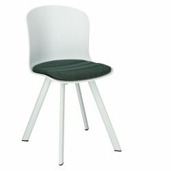 Krzesło Story 20 białe PP, zielone siedz isko - ACTONA