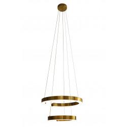 Lampa wisząca  złoty ring LUCIANO 2L - Auhilon