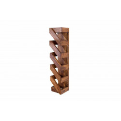 INVICTA stojak na wino MAKASSAR 70 cm - Sheesham, drewno naturalne