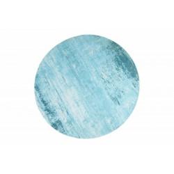 INVICTA dywan MODERN ART 150 cm okrągły - turkusowy, bawełna, poliester