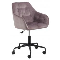 Fotel biurowy Brooke VIC różowy - ACTONA
