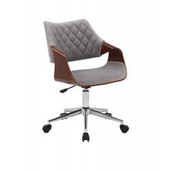 COLT fotel pracowniczy orzechowy/popielaty velvet - Halmar
