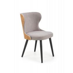 K452 krzesło popielaty/dąb naturalny - Halmar