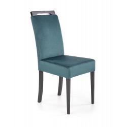 CLARION 2 krzesło czarny / tap: MONOLITH 37 (c. zielony) - Halmar