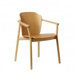Krzesło Finn z podłokietnikami jasny orz ech - SCAB Design