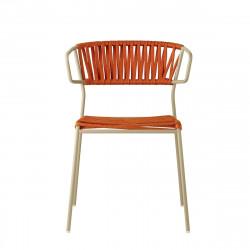 Krzesło Lisa Filo Arm szaro-pomarańczowe - SCAB Design