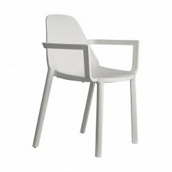 Krzesło Piu Arm białe - SCAB Design