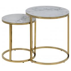 Zestaw stolików kawowych Alisma okrągłe - ACTONA