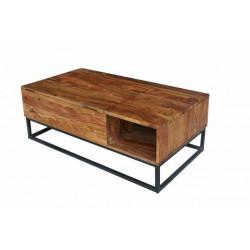INVICTA stolik kawowy MAKASSAR FUNCTION - 110 cm sheesham, drewno naturalne, metal