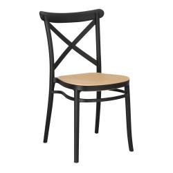 Krzesło Moreno czarne - Intesi